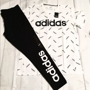New adidas outfit leggings T-shirt set
